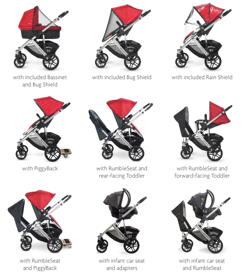 Uppababy Vista Stroller with Rumble Seat | Best Buggy