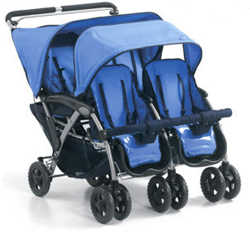 foundations quad four child stroller